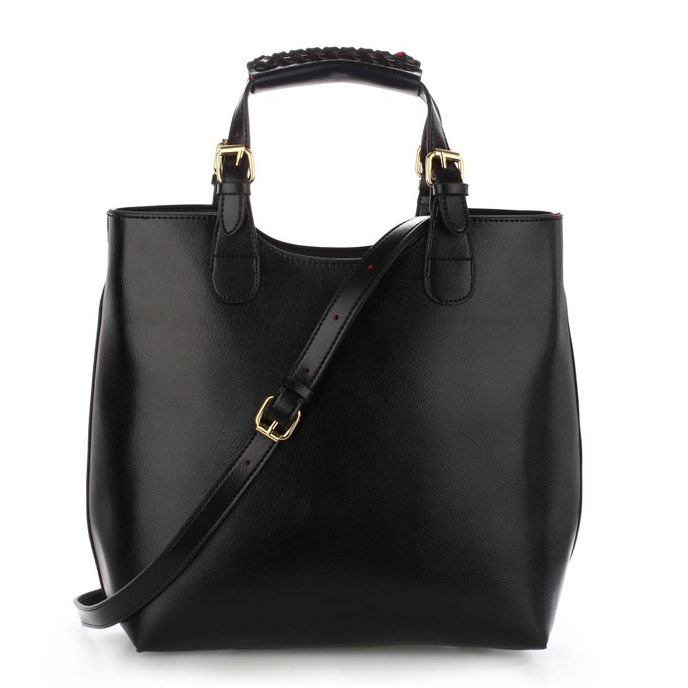Anna Grace Velká kabelka shopperbag AG00267 černá cee7f7aa31d