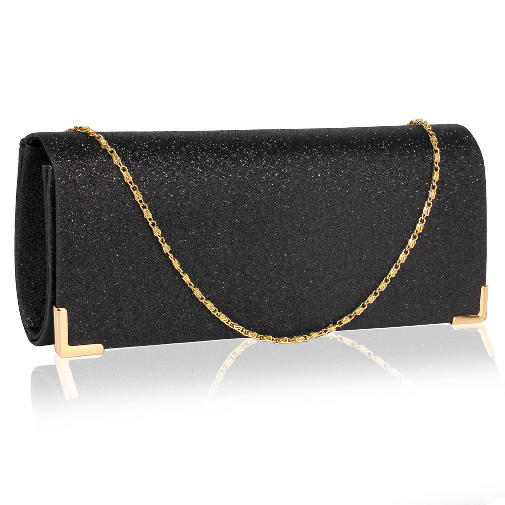 7952fa333b Společenská černá kabelka perleťové psaníčko LSE00235