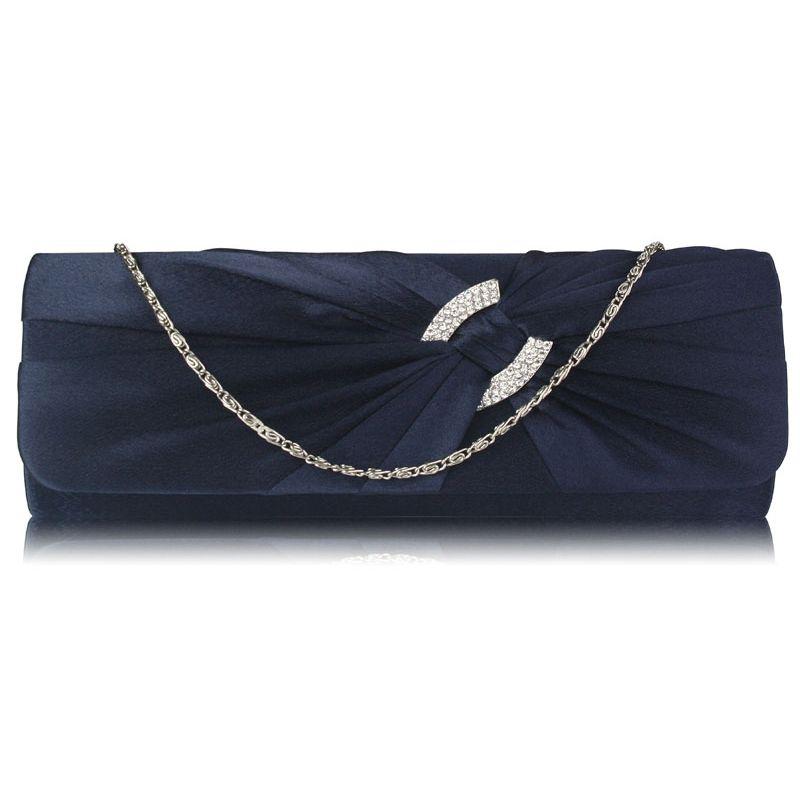 Elegantní Společenská modrá kabelka psaníčko LS Fashion LSE00175 modré ac83c77aee