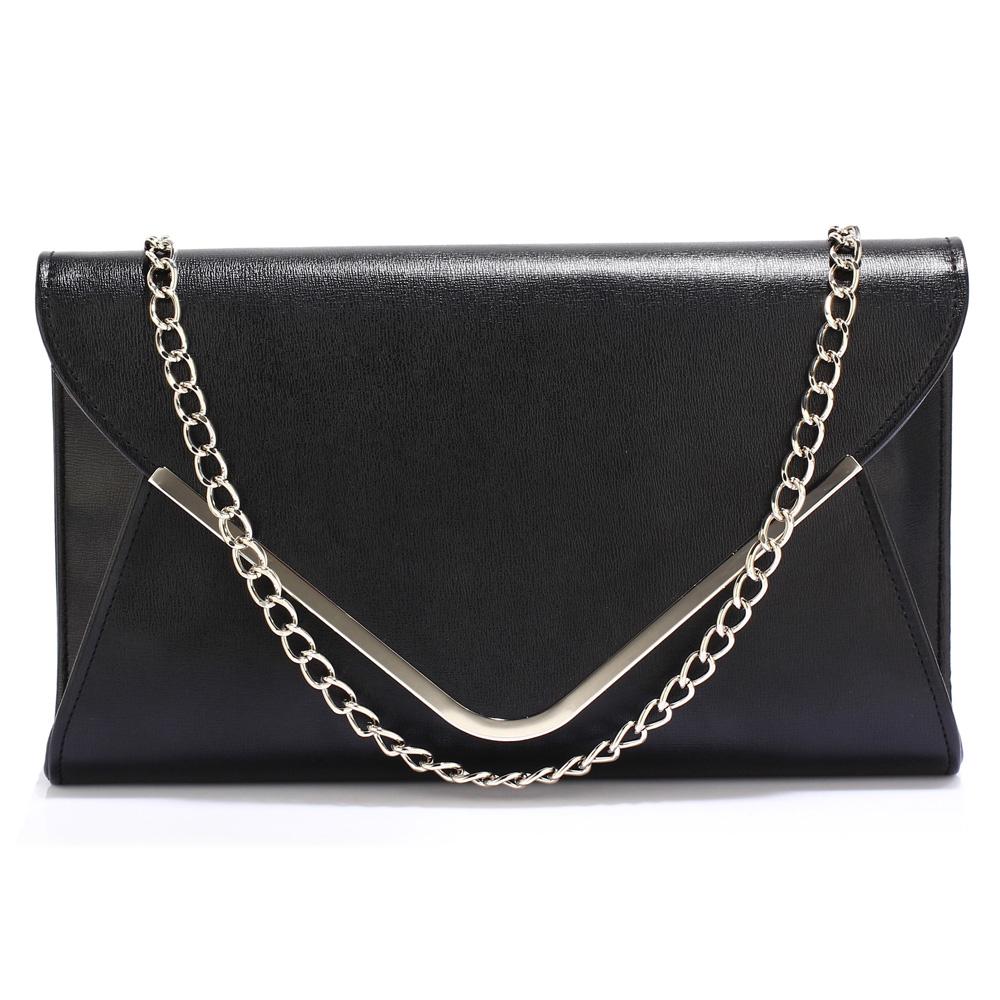 05a1a14535 Elegantní Společenská kabelka psaníčko LS Fashion LSE00166C černé