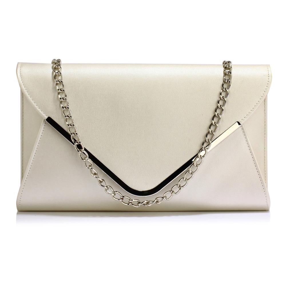 b5c4d2e2c5 Elegantní Společenská kabelka psaníčko LS Fashion LSE00166C IVORY krémově  bílé