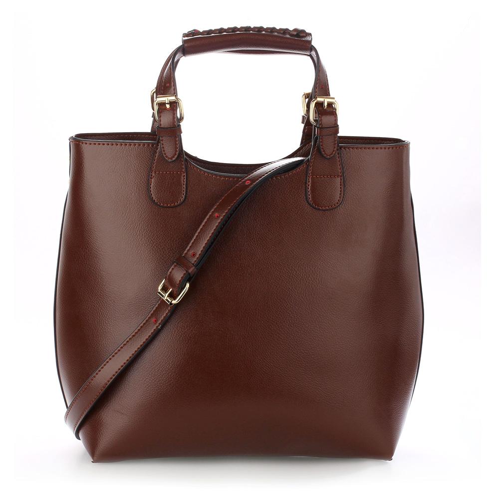 3a9f519ccd Shopper bag kabelka do ruky Anna Grace AG00267 tmavě hnědá