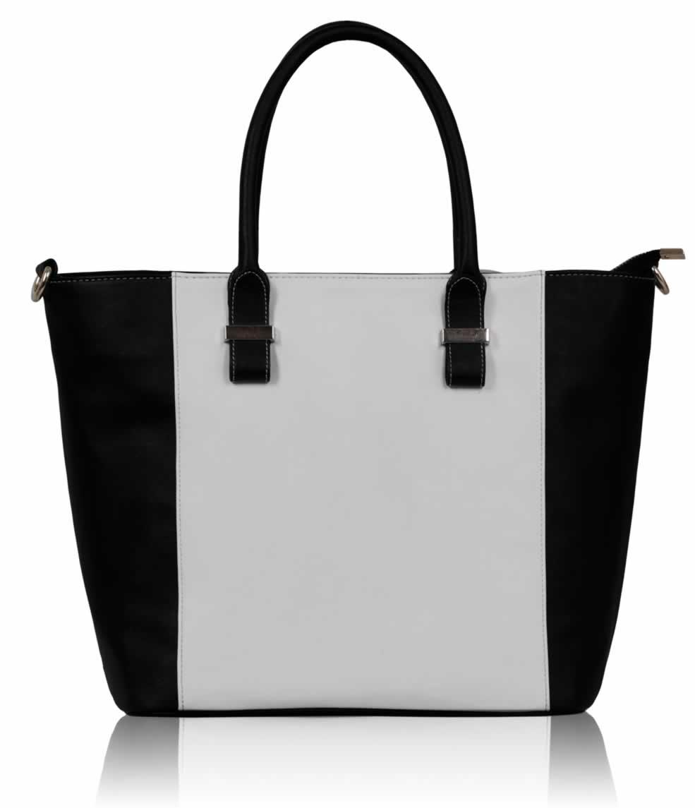 Dámská černobílá kabelka se zlatými aplikacemi LS0076A 185196a68f