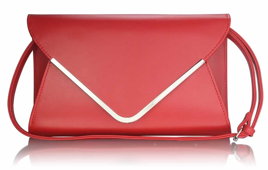 c47f7614523d LS Fashion Krásná červená kabelka psaníčko LSE00166A červené