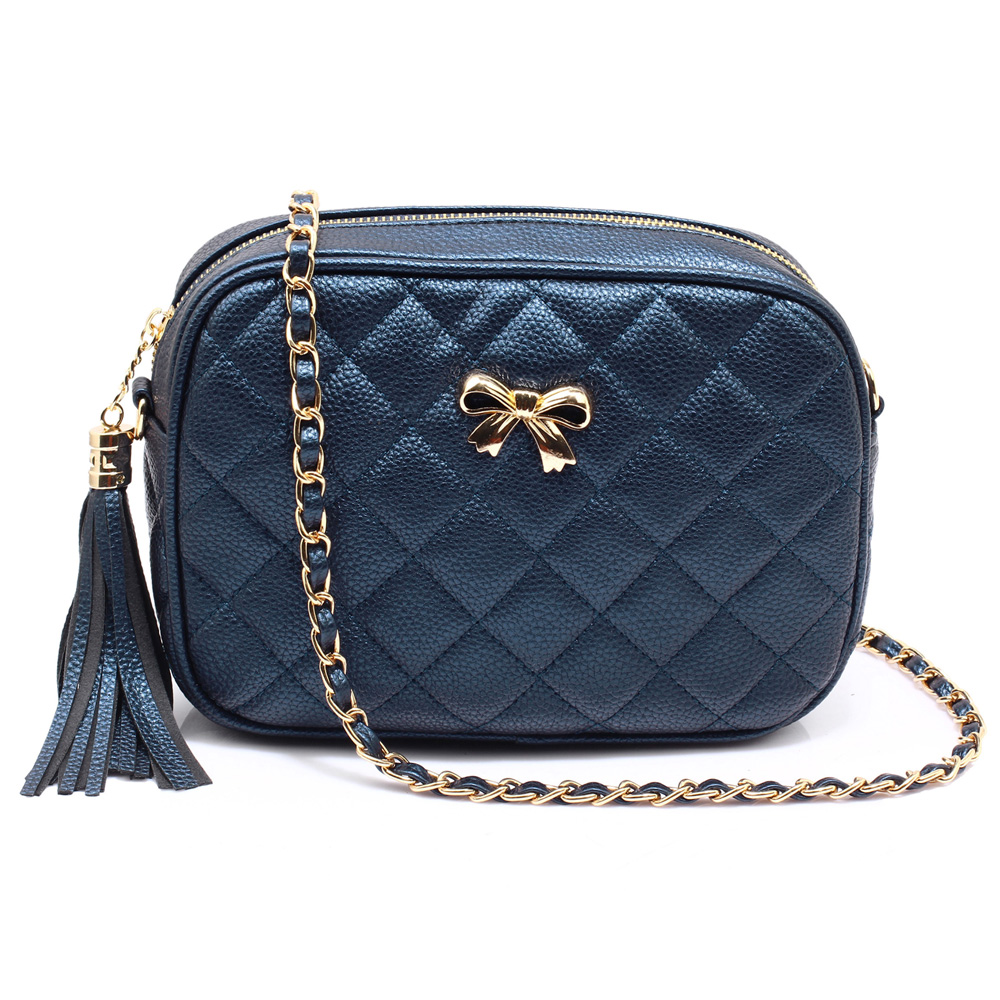 Crossbody kabelka Anna Grace AG00540 modrá 55547b4b618