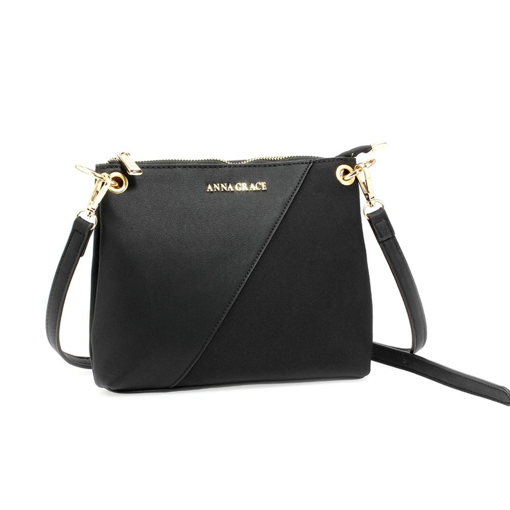 Moderní černá crossbody kabelka (psaníčko) Anna Grace AG00616 1ab70e75907