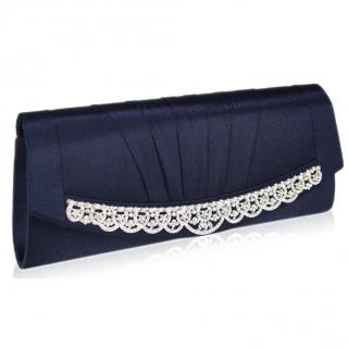LS Fashion Luxusní kabelka psaníčko LSE00113 - modrá empty b54b0163025